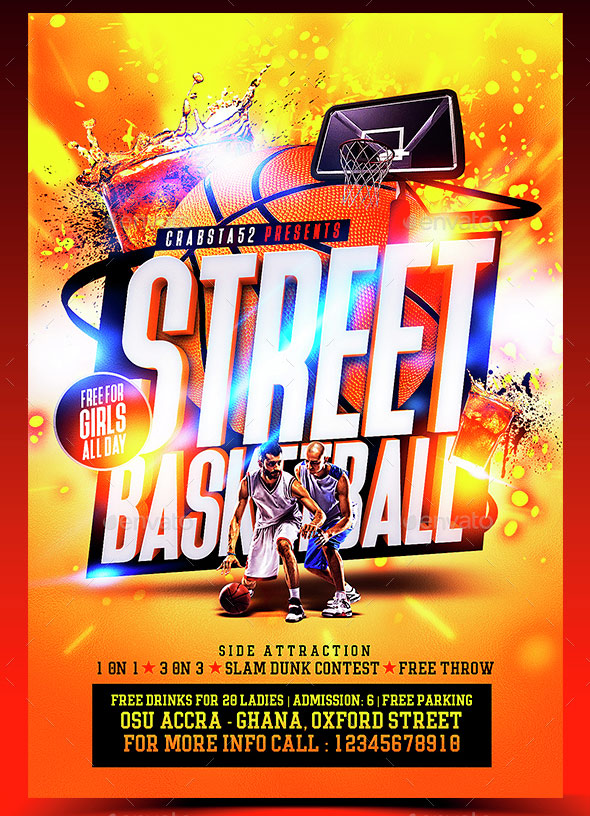 Street Basketball Flyer Template