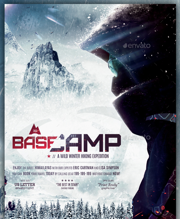 BaseCamp - Winter Hiking Flyer Template