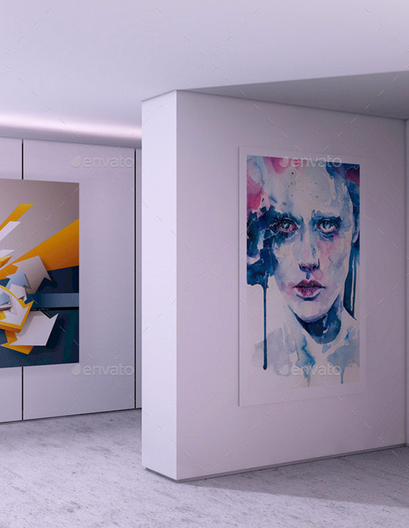 Modern Interior | Photography Art Gallery Mock-Up