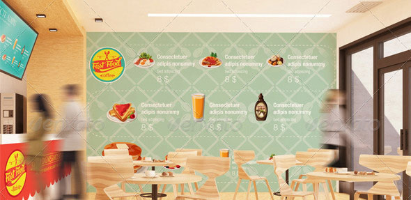 The Mockup Branding For Fast Food Outlets
