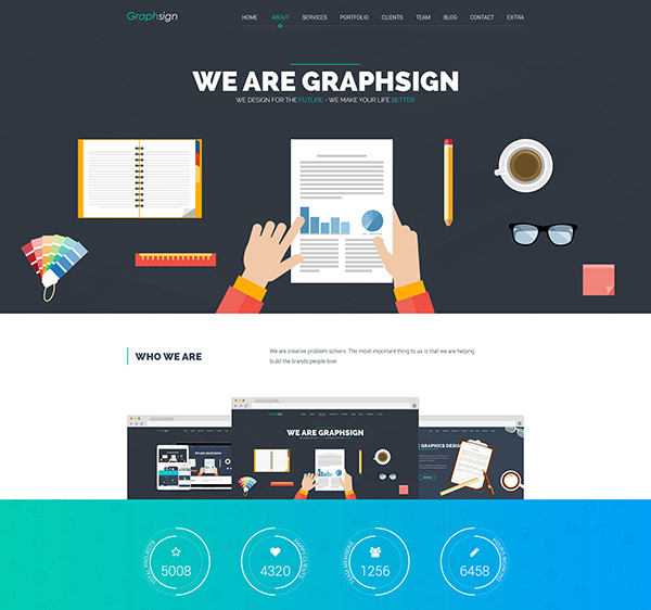 Graphsign - Onepage Corporate Business Joomla Template