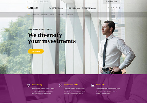 Sabber - Financial and Business Joomla Templates