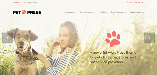 PetPress - A Pet Shop/Services Theme for WordPress