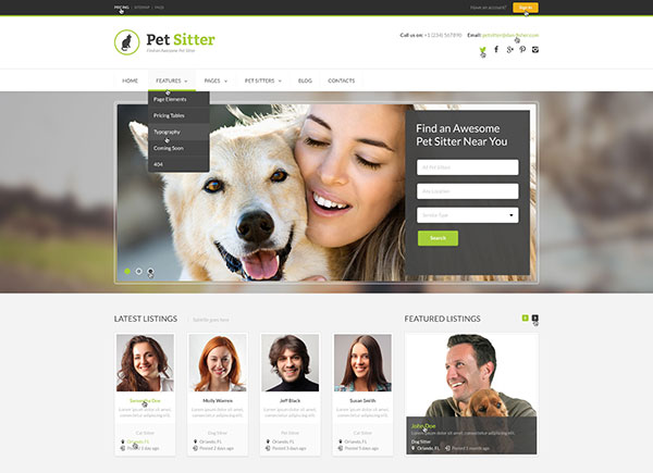 PetSitter - Job Board Responsive WordPress Theme
