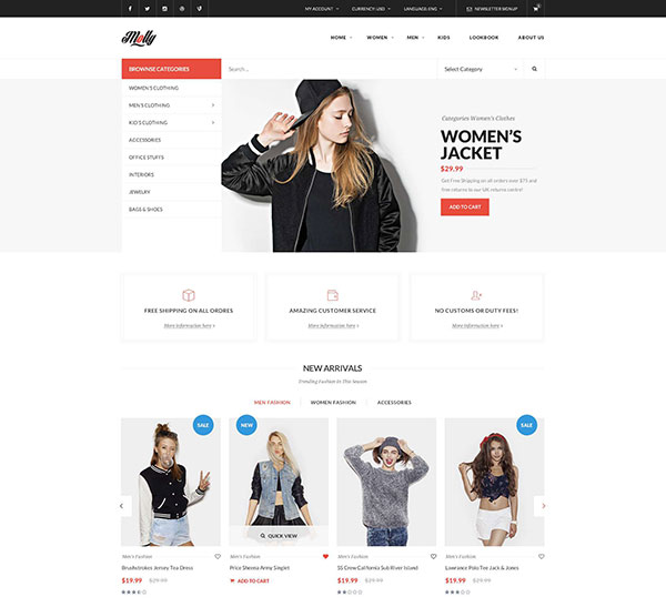Molly - Prestashop Theme With 20+ Homepages