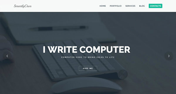 Smartly Own - WordPress Theme For Busy Web Developers, Web Designers and Freelancers