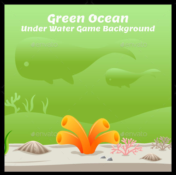 Green Ocean Under Water Game Background
