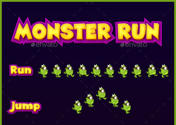 Monster run game sprite
