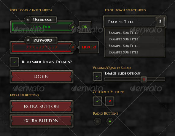 RPG User Interface Elements