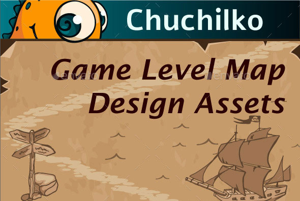 Game Level Map Design Assets