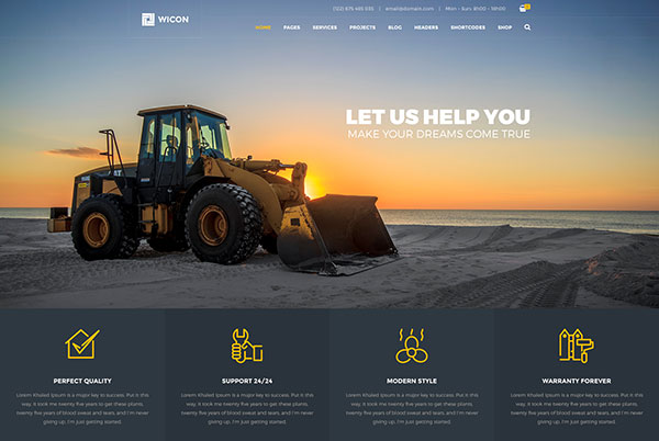 WICON | Construction & Building PSD