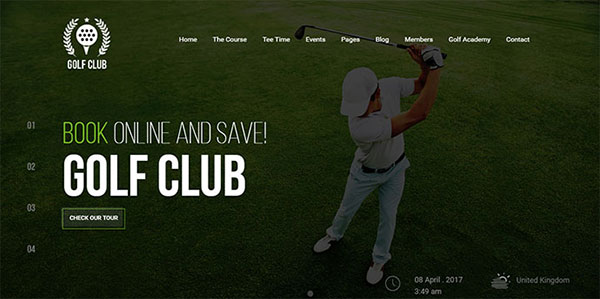Golf Club - Golf Course WordPress Theme