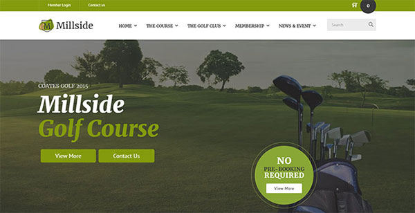 Millside - Golf and Sport WordPress theme