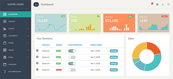 Inspire - Bootstrap 4 Admin Template