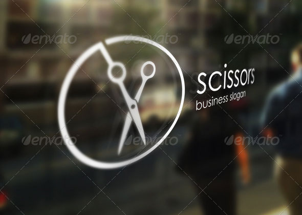 Scissors - Barber Shop Logo Template