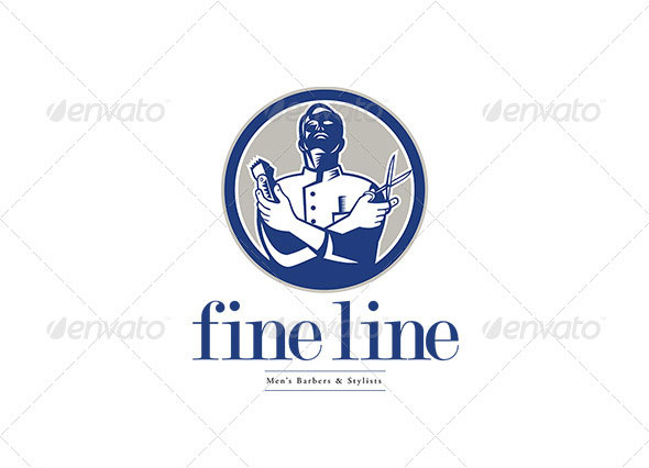 Fineline Men's Barbers and Stylists Logo
