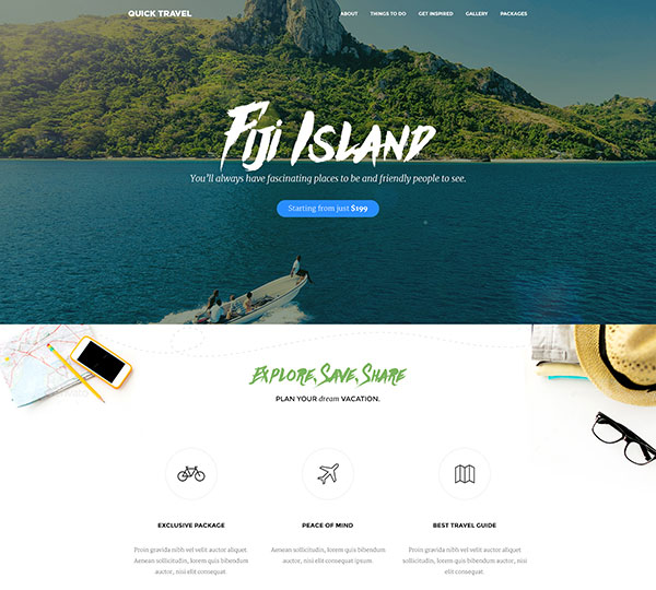 Quick Travel HTML Landing Page