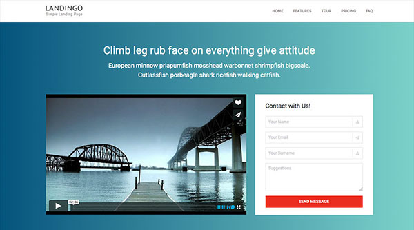 Landingo - One Page Responsive Landing Page