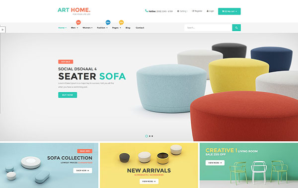 Ves Arthome Magento 2 Template With Pages Builder