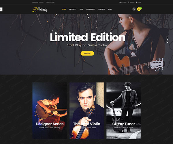 Ves Melody Magento2 Theme With Pages Builder