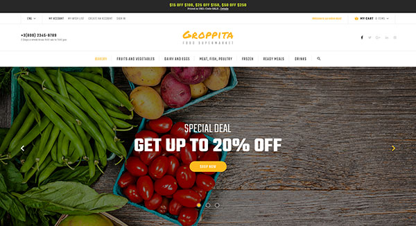 Gropitta - Food Supermarket Magento 2 Theme