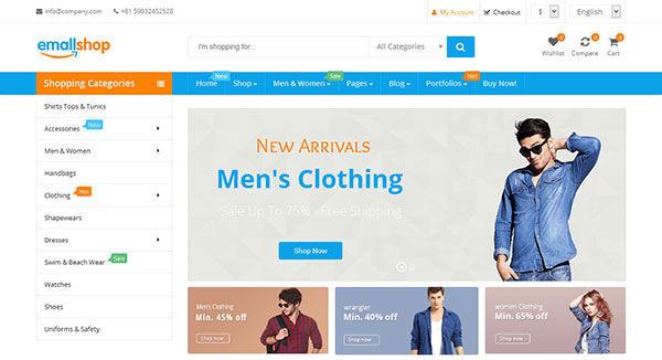 EmallShop - Responsive Multipurpose WooCommerce Theme