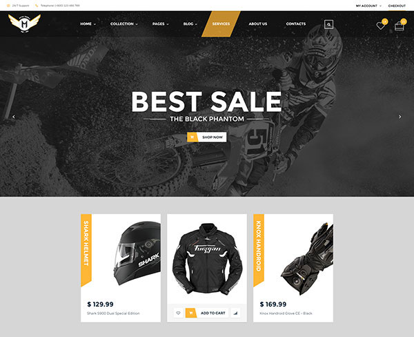 Motor Vehikal - Motorcycle Online Store WordPress Theme