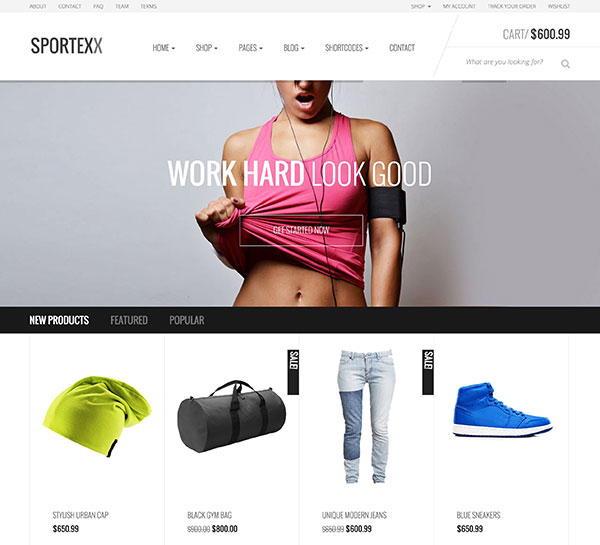 Sportexx - Sports & Gym Fashion WooCommerce Theme