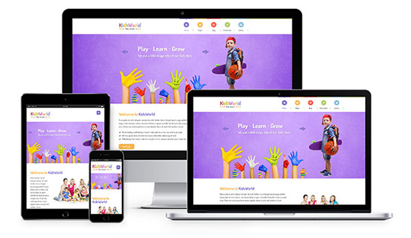 KidsWorld - Kindergarten, Child Care & Preschool Responsive WP Theme