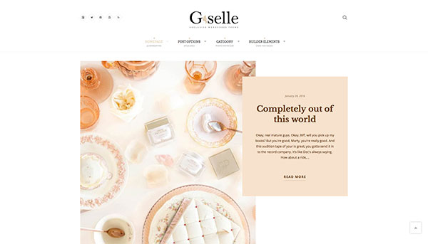 Giselle - Exclusive Blog & Fashion WordPress Theme