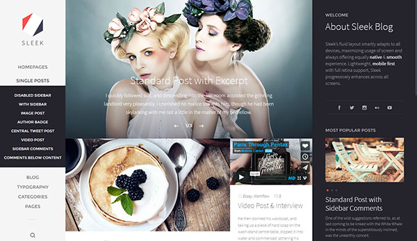 Sleek | Responsive & Creative WordPress Blog Theme