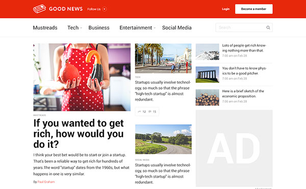Good News - Multi-Niche Blog / Magazine / Newspaper WordPress Theme