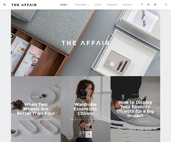 The Affair - Creative Theme for Personal Blogs and Magazines