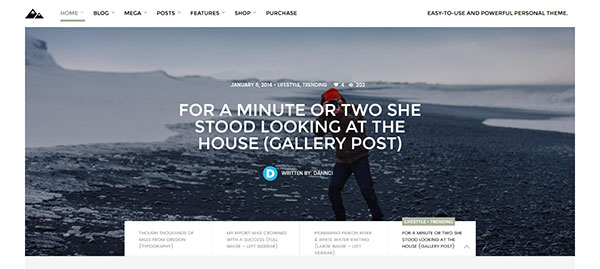 Land - Multi Topic Personal WP theme