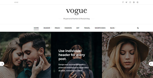Vogue CD - A Fashion & Lifestyle Blog Theme for WordPress