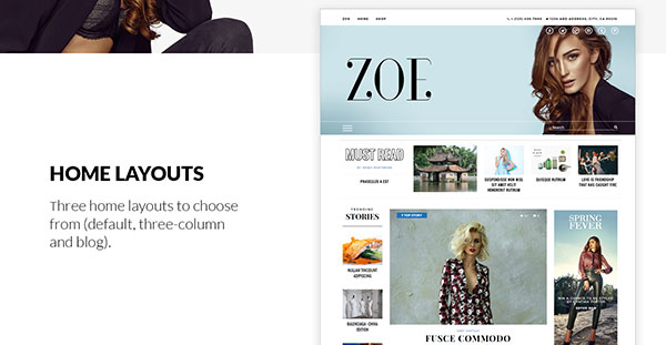 Zoe - Fashion, Lifestyle and Entertainment News Theme