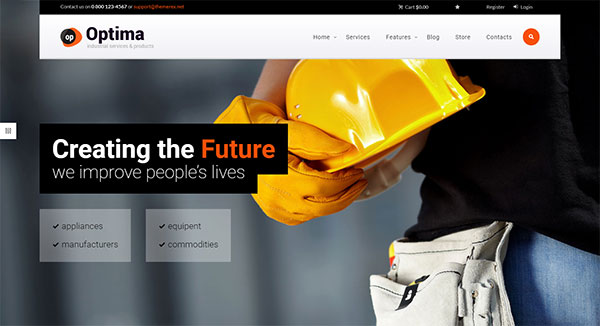 Optima | Industrial WordPress Theme