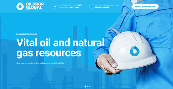 OilDrop - oil and gas industrial WordPress theme