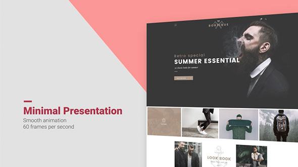 Minimal Website Presentation