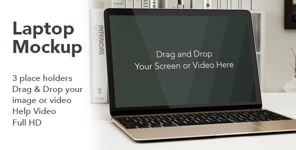 Laptop Video Mockup