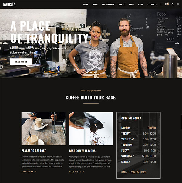 Barista - A Modern Theme for Cafes, Coffee Shops and Bars