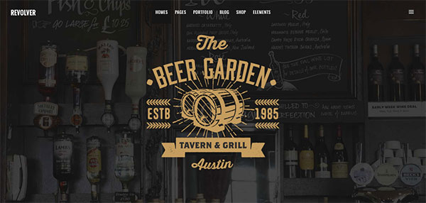 Revolver - A Gentlemen's Theme for Tattoo Salons, Barbershops, Pubs and Biker Clubs