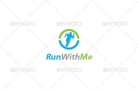 Run With Me Logo Template