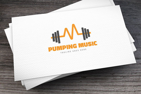 Pumping Music Logo Template