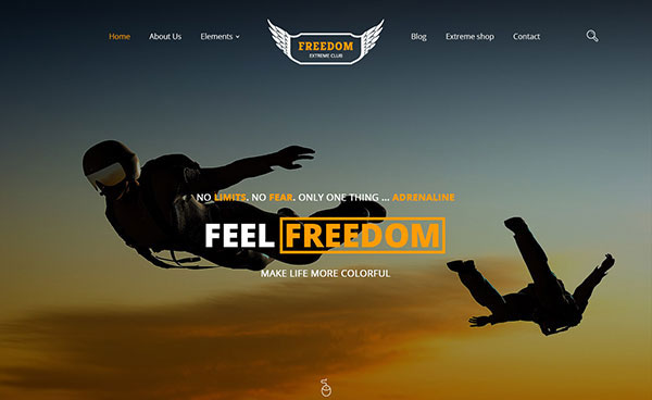 Freedom Extreme Club - Powerful PSD Template