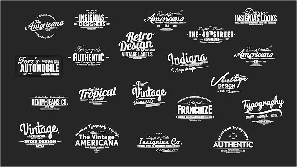 Vintage Slideshow Titles Pack