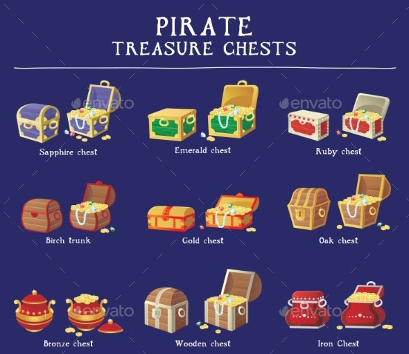 Chest Set for Game Interface