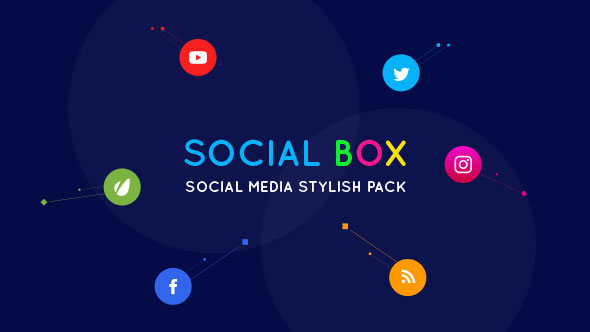 SocialBox - Social Media Intro and Outro for Social Media Links Promotion