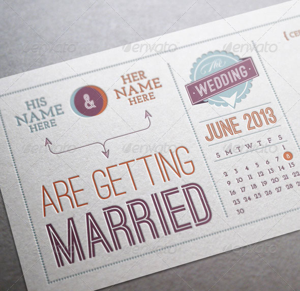 Vintage Wedding Invitation & Save the Date