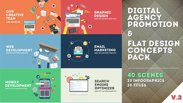 Digital Agency Promotion - Flat Design Concepts